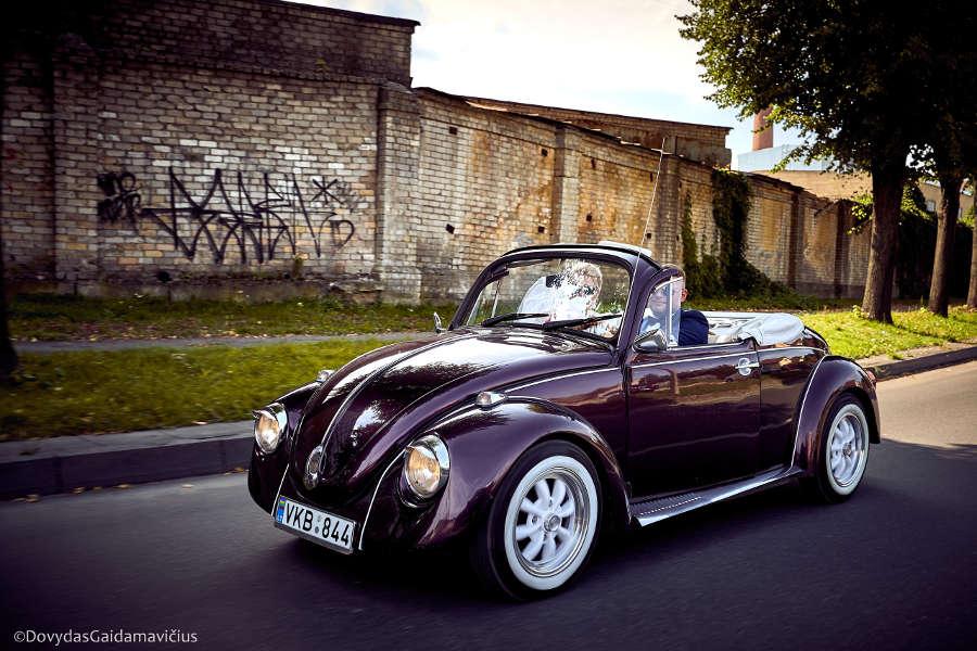 Senovinis automobilis - violetinis kabrioletas | Nuotrauka: Dovydo Gaidamavičiaus